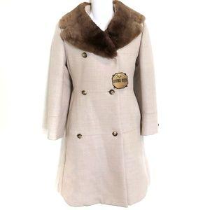 Vintage 70s Mink Lined Fur Coat Mint Condition XS